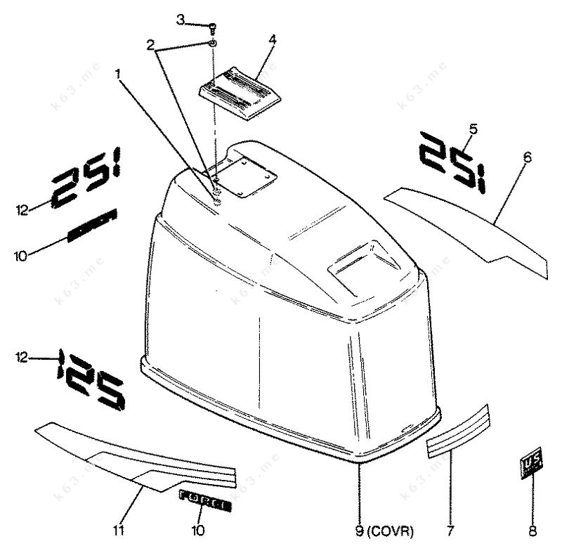 150 hp mercury outboard wiring diagrams mercury force 125 h p 1988 engine cover maxum models 1988 mercury outboard diagram