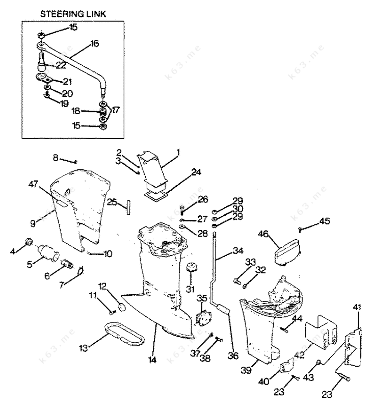 1988 mercury outboard diagram wiring harness for mercury outboard motor mercury force 125 h p 1988 motor leg parts catalog #13